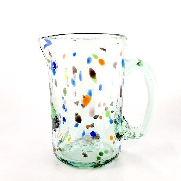 jarra vidrio puntos multicolor
