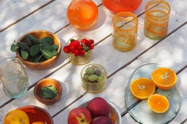 Tableware Menaje de Mesa Mediterraneo Naranja Lafiore.com  600x400 - Glaskunst in Mallorca