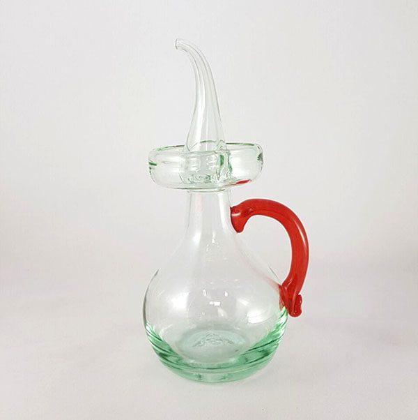 Aceitera Mallorca vidrio rojo