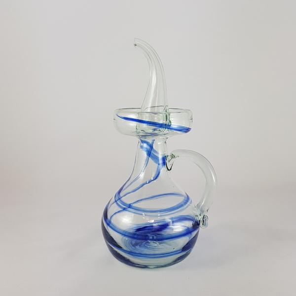 aceitera aguas azul antigoteo - Oil bottle Blue Sea