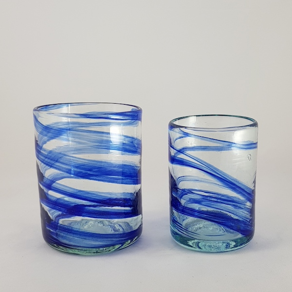 vaso aguas azul lafiore - Glass Blue Mare