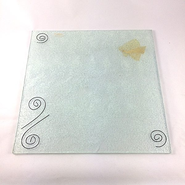 bajoplato vidrio elegante lafiore.com