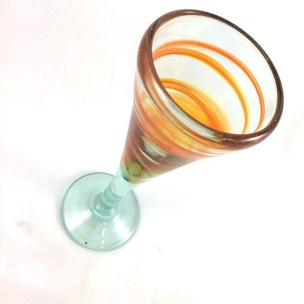 Copa vidrio mallorca naranja
