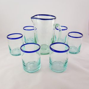 Set 6 glasses and pitcher