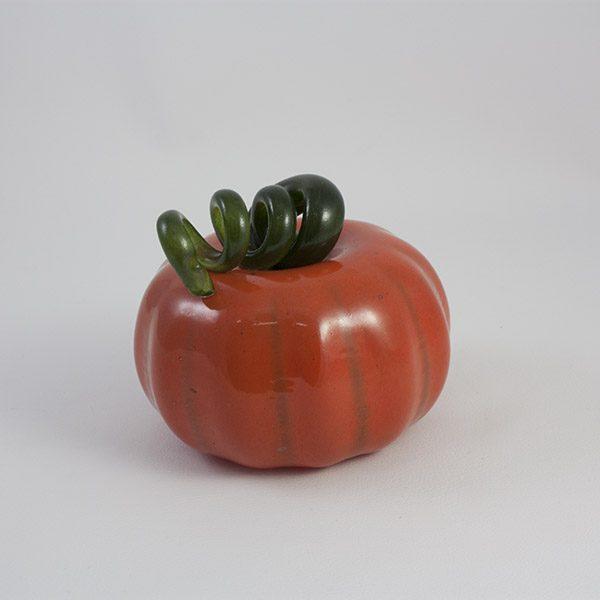 Carabasa calabaza de vidrio naranja