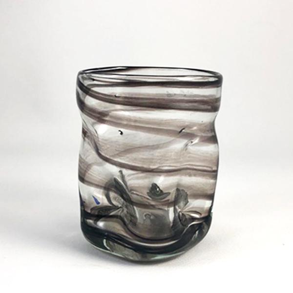 vaso vidrio deia nero lafiore.com  - Glasses with Colour and Style