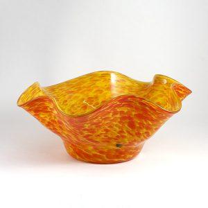 Bol, fuente de vidrio, centro de mesa