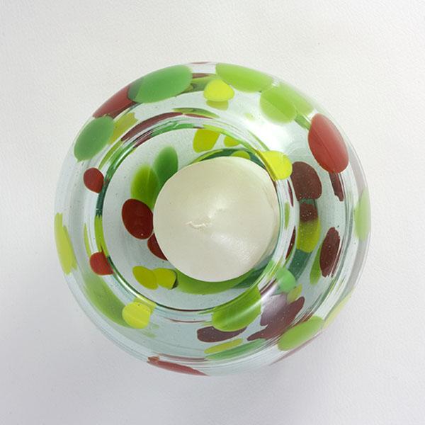 Portalvela Farol Trazos Verde b Lafiore.com  - Disfruta todo el año en la mesa