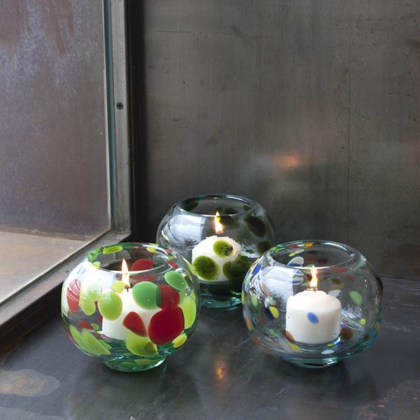 Portavelas de diseño Mallorca Lafiore.com  - Kreativ und Glaskunst Store