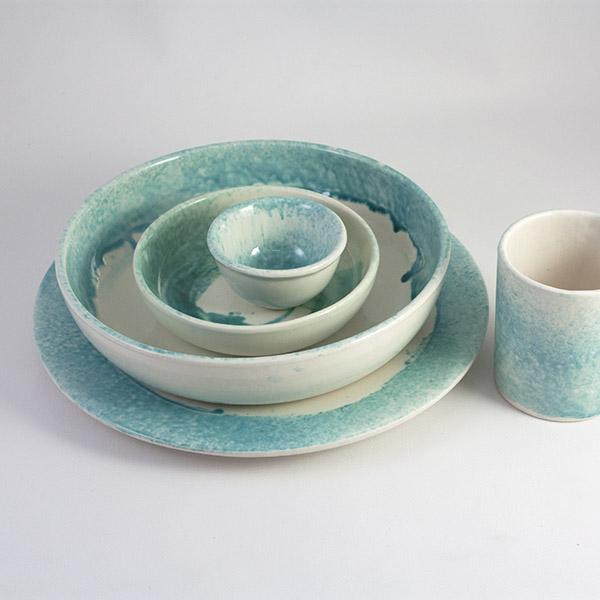 Vajilla de ceramica pintada a mano en Mallorca - Atardecer en la Tramuntana