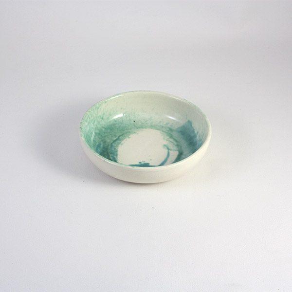 cuenco de ceramica turquesa 14