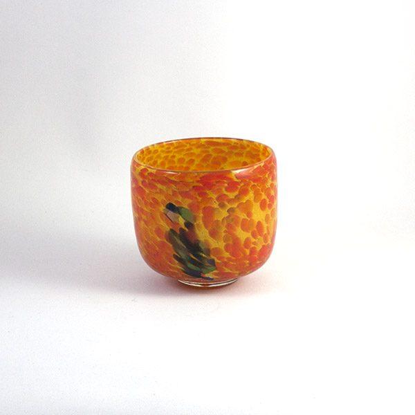 Cuenco Vidrio Naranja Soller Mallorca