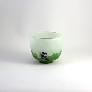 Cuenco Vidrio Selva Blanco Verde