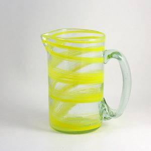Jarra Pitcher Vidrio Soplado Yellow Amarillo