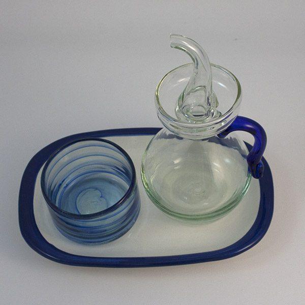 Set Azul Blue Salt and Oilbottle 600x600 - Set de Mesa Pa amb Oli Azul