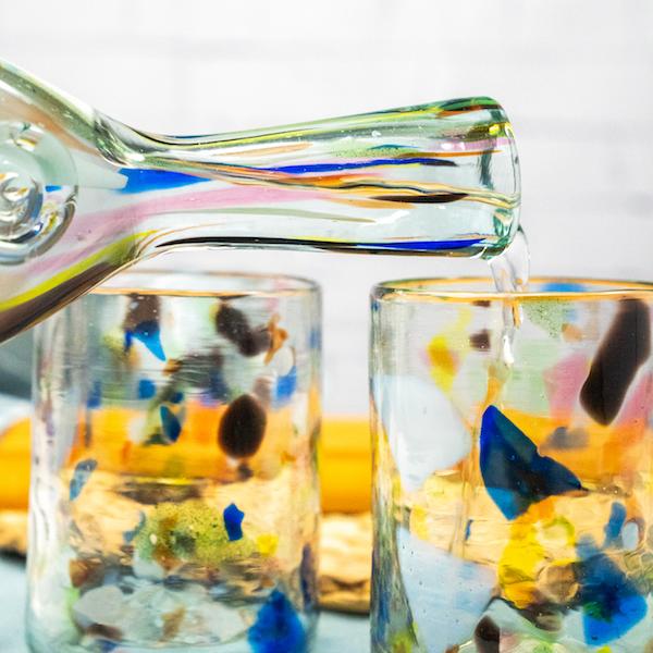 botella terrazzo glass bottle lafiore - Glass Bottle Terrazzo Y