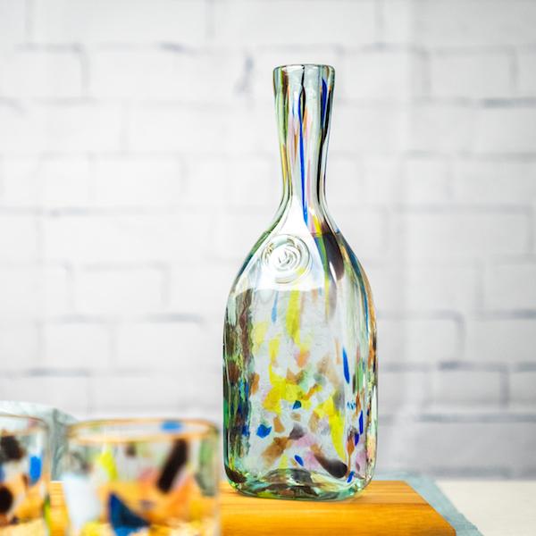 botella terrazzo lafiore - Glass Bottle Terrazzo Y