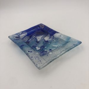 plato fusing glass blue 300x300 - Plate Fusion Blue Sea