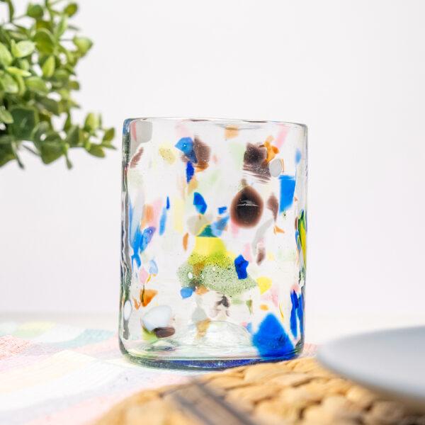 terrazzo glass 600x600 - Vaso de Vidrio Terrazzo Y