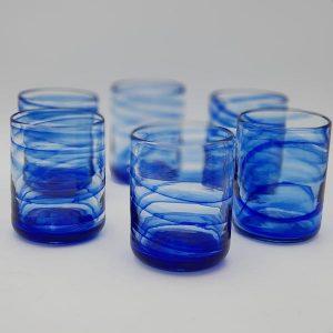 set6 glass 01 300x300 - Set 6 Gläser Blau