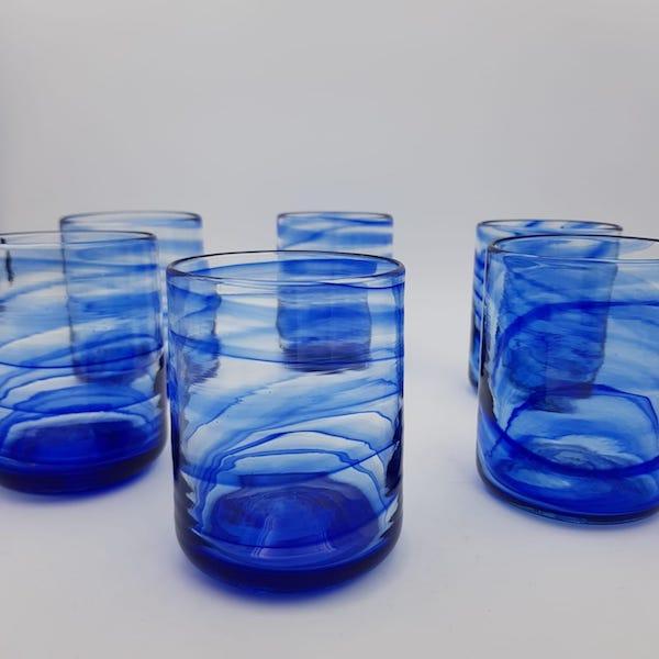 set6 glass 04 - Set 6 Glasses Blue Sea