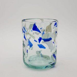 vaso glass terrazzo blue lafiore 300x300 - Glass Terrazzo B