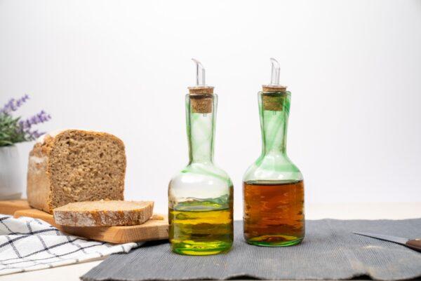 set verde duo aceitera lafiore 600x401 - Set Oil & Vinegar Cruet Green