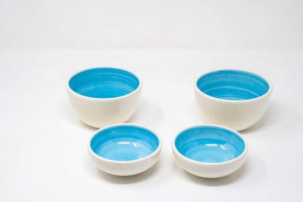 IMG 9513 600x401 - Set 4 Bowls Ceramic Cel